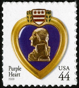 US Stamp Gallery >> Purple Heart