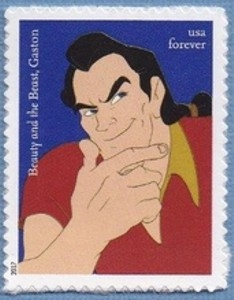 US Stamp Gallery >> Gaston (Beauty and the Beast)