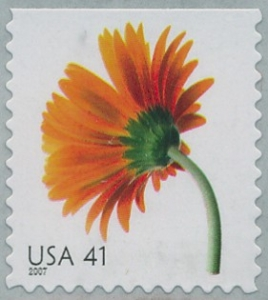 www.usstampgallery.com >> US Postage Stamp >> Orange gerbera daisy