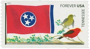 www.usstampgallery.com >> US Postage Stamp >> Tennessee Flag