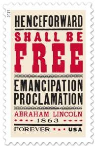 US Stamp Gallery >> Emancipation Proclamation