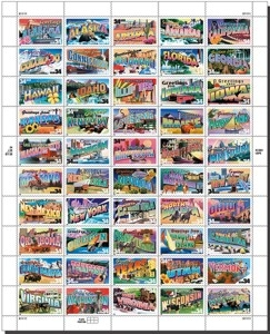 US Stamp Gallery >> Greetings from America